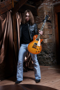 Angel with his Gibson Les Paul
