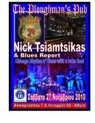 Nick Tsiamtsikas & Blues Report live at Plaughman's Pub