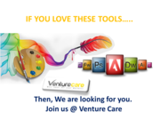 graphics designer job vacancy at venture care