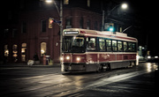A streetcar (the Red Rocket) @  King & Sherbourne