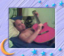 sexy Dan playing my guitar