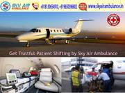 Take on Rent Sky Air Ambulance Services in Bagdogra at affordable price