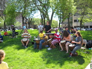 Drumming at Indy Earth Day 2009