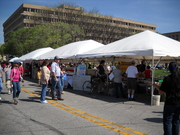 Food tents at Indy Earth Day 2009