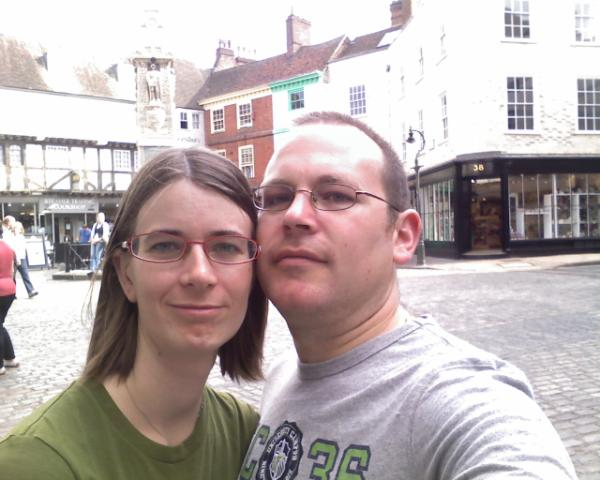 Phil and susie in canterbury