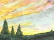 Trembling Frigid Dawn Trees