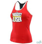 Biggest Loser Red Gym Vest For Women