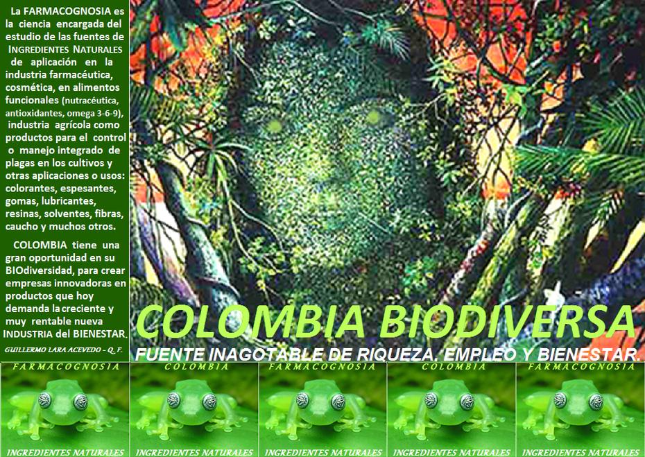 COLOMBIA BIODIVERSA - FARMACOGNOSIA