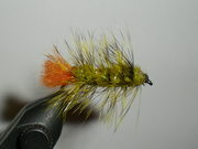Yellow Grizzly and Olive Woolly Worm