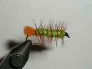 Brown and Olive Ice Dub Woolly Worm