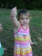 Sophia's First Fish (Sort Of)
