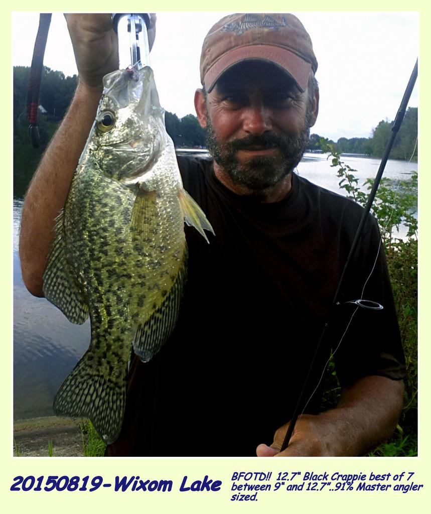 "20150819_191416 BFOTD!! 12.7"" Crappie 91% Master Angler Sized!"