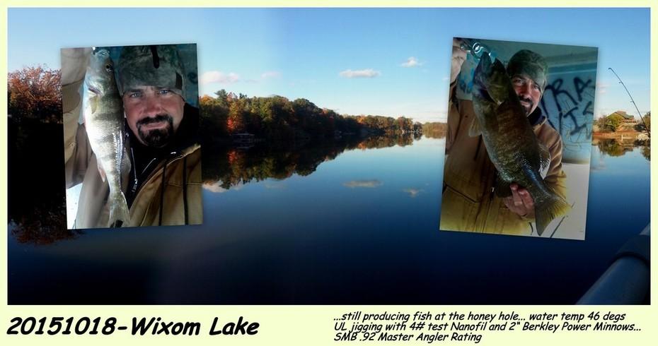 20151018-WIXOM LAKE-FISH STILL HITTING AT THE HONEY HOLE