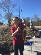 Pond fishing with Aubree!
