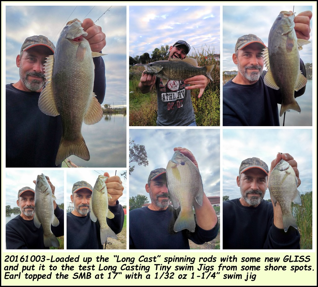 "20161003-Loaded up the ""Long Cast"" spinning rods with some new GLISS"