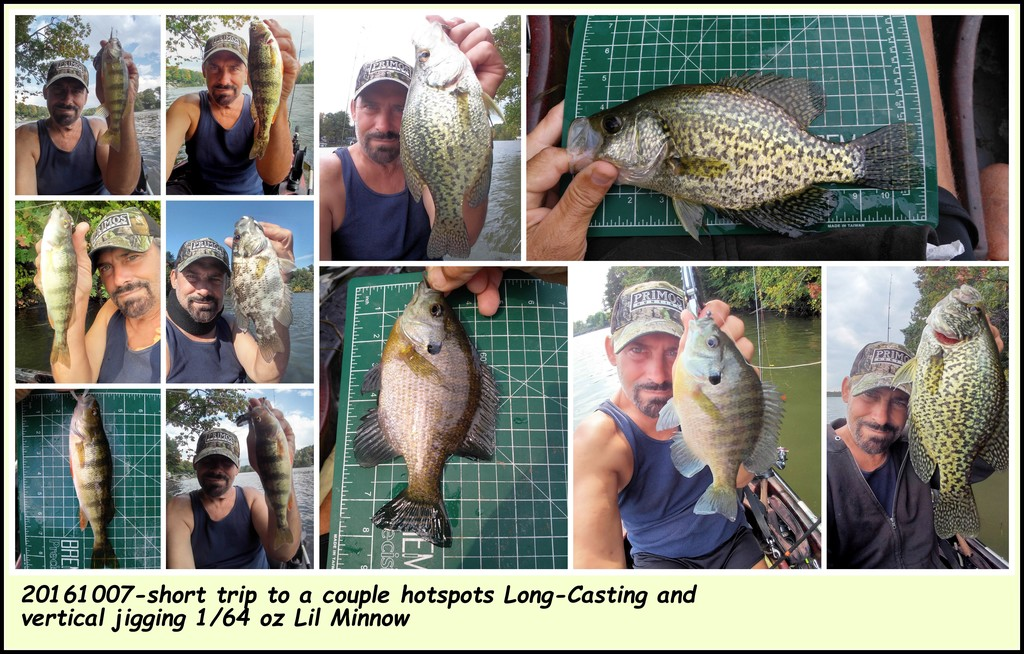 20161007-short trip to a couple hotspots Long-Casting and vertical jigging 1/64 oz Lil Minnow