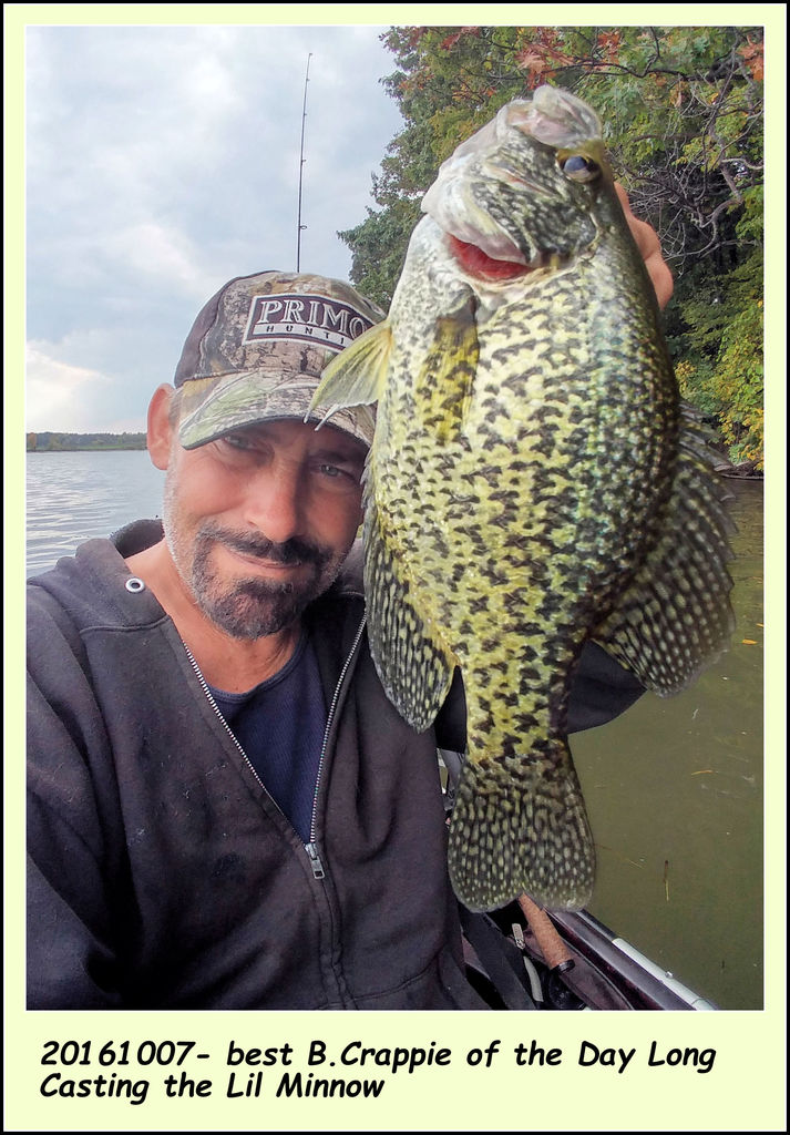 20161007- best B.Crappie of the Day Long Casting the Lil Minnow