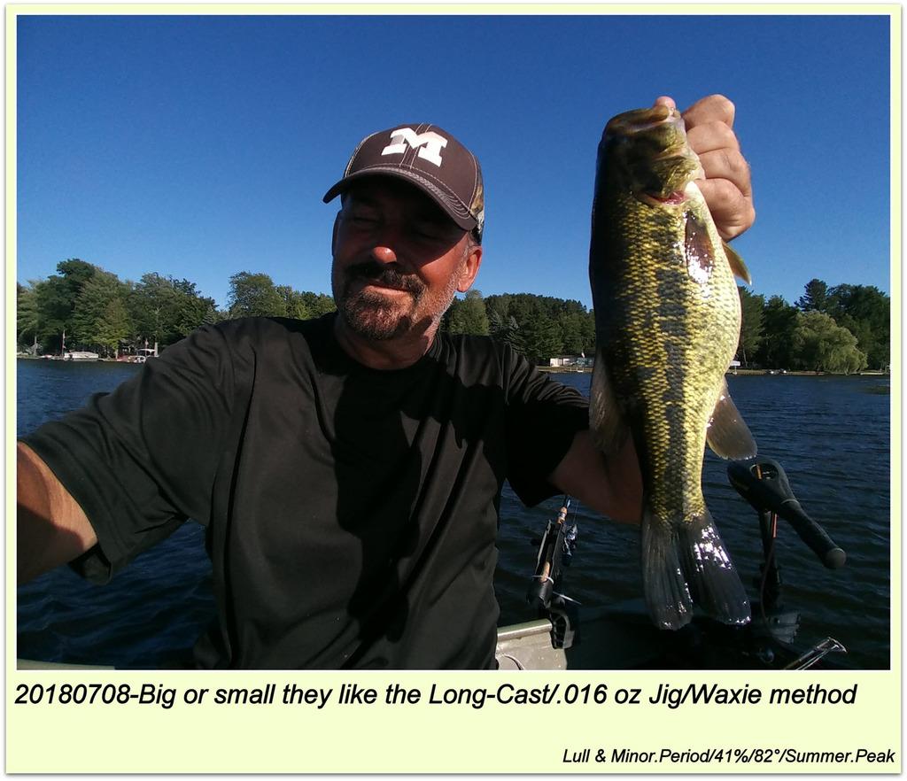 20180706-Big or small they like the Long-Cast/.016 oz Jig/Waxie method