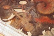 Detail of mural in Hengrave Hall, Suffolk, circa 1595.