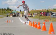 Haggy Strom wins the 101 cone challenge