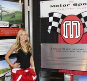 Natalia in our booth at Barrett-Jackson