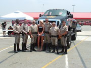 Our police escort for the Player's Run, California Speedway - Fontana