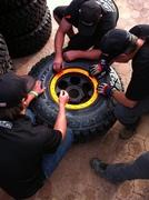 2011 Baja 1000 Getting Toyos ready to go.