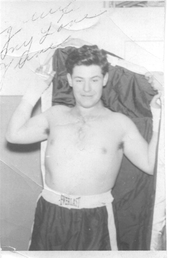 Dad as a boxer