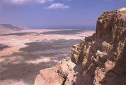 Looking at the Dead Sea from Masada