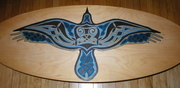 Celtic Raven Coffee Table