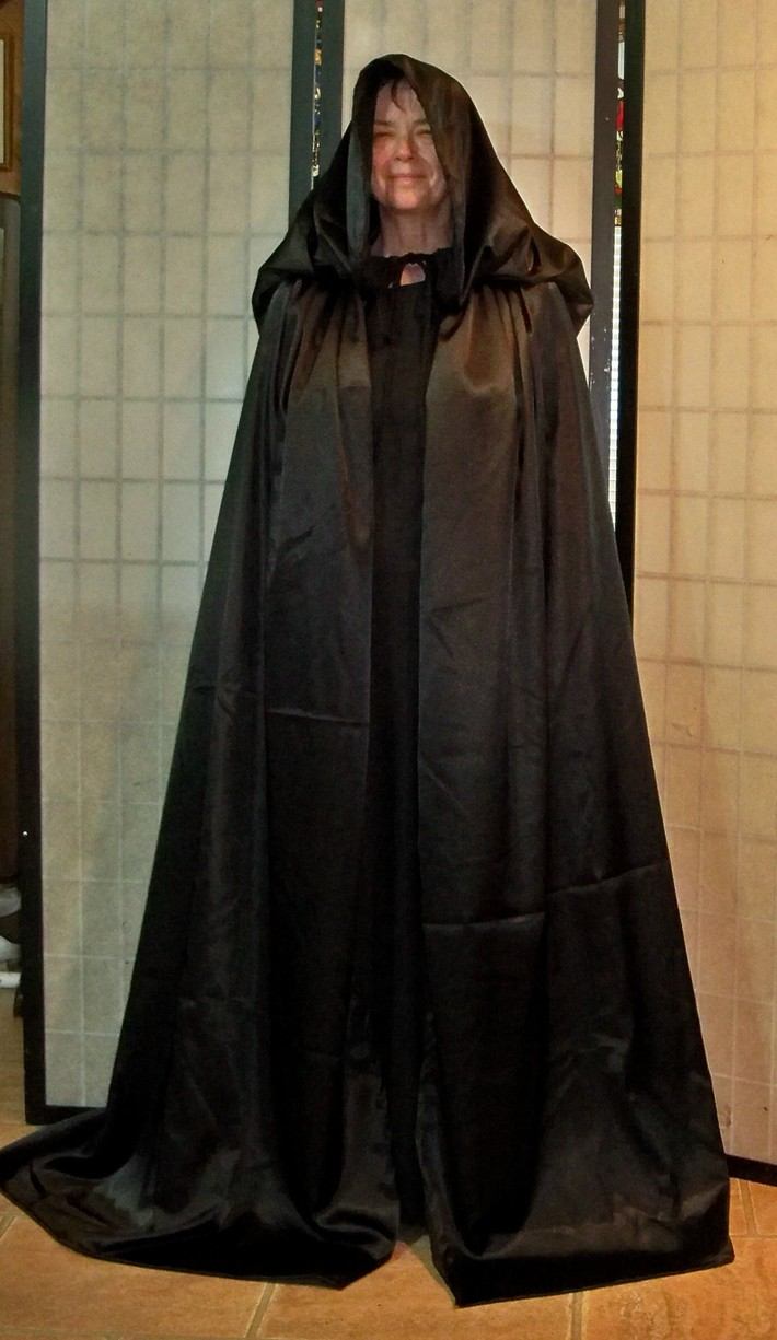 Black Satin Plus Size, XTall Cape