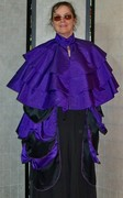 Purple Steampunk Cape and Tie-on Bustle