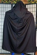 Black Plus Size Cape with Oversized Hood