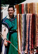 Pennsic 1993:  Ana w/ Belt Rack