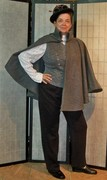 Gray Wool Shoulder Cape