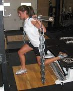 Suspended chain single leg squats
