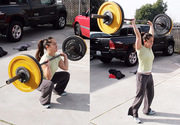 Girl Doing Thrusters