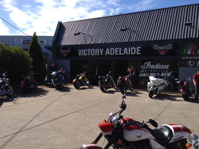 2015 AVR-SA, Day 6, Touch Down quick visit 'Victory Motorcycles' Adelaide
