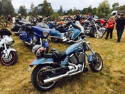 Melbourne Victory-Indian Xmas ride 2015 destination Gisborne Classic Car & Bike Show