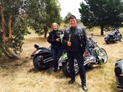 Melbourne Victory-Indian Xmas ride 2015 destination Gisborne Classic Car & Bike Show- Kevin & Amanda