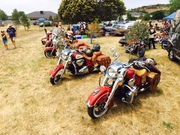 Melbourne Victory-Indian Xmas ride 2015 destination Gisborne Classic Car & Bike Show- Chrome & Leather-