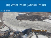 Ice jam at West Point