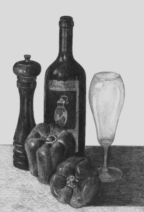 Still Life with Wine and Peppers (2009)