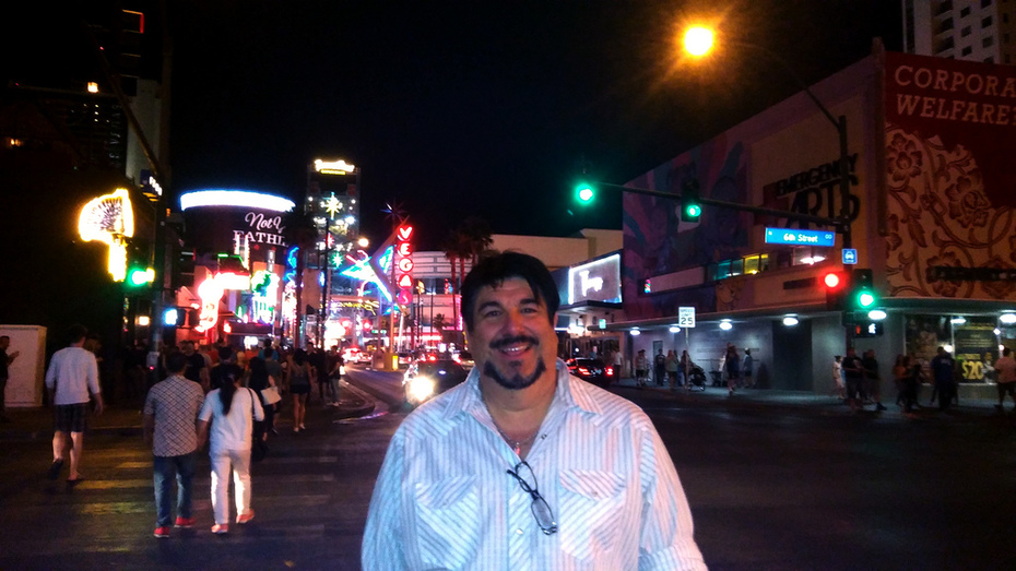 Joey Spinella on Fremont Street Vegas