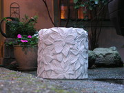 Carved concrete containers
