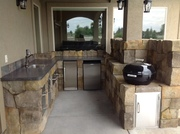 Finished outdoor kitchen