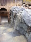Entrance to underground wine cellar