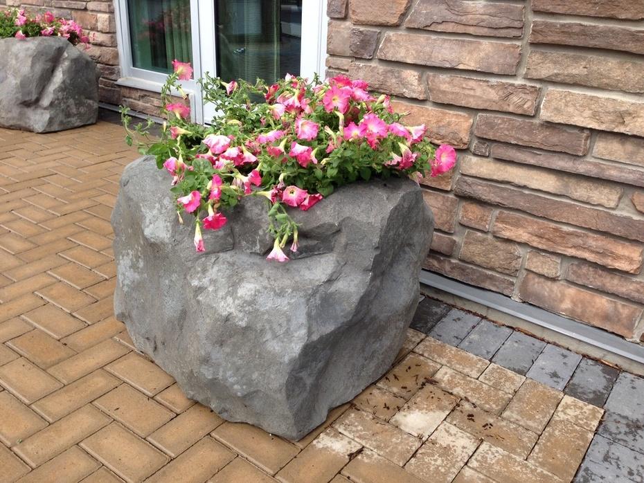 rock planters for Homewood Suites