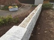 Interlocking Stacked stone panel installation