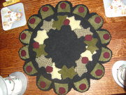 Holly Wreath Wool Applique